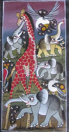 Animal Outline, African Artwork, Bicycle Painting, Arusha, East Africa, Giraffes, Animal Drawings, Animal Kingdom, Folk Art