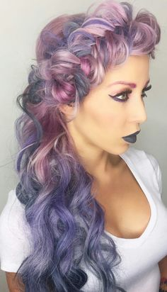 Pink purple dyed hair @candicemarie702
