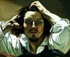 "Influence by the Italian Master, Caravaggio, is Gustave Courbet's self portrait.  ""This is an incredible portrait, and no, this is not Johnny Depp, although it does resemble him in a way. It is Gustave Courbet, who painted this self-portrait, titled ""Le Désespéré"" when he was in his mid twenties, in the 1840′s. He does indeed look desperate, and the image has an immediacy about it which belies the fact that it probably took months to complete."""