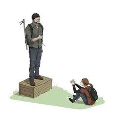 Image via We Heart It #game #Joel #videogame #zombie #ellie #brotp #thelastofus