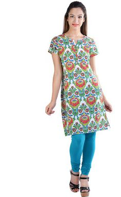 Prakhya Printed Women's Straight Kurta - Buy Green Prakhya Printed Women's Straight Kurta Online at Best Prices in India | Flipkart.com