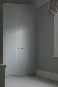 simple shaker style spray finished in your colour Curtain Wardrobe, Alcove Wardrobe, Diy Wardrobe, Wardrobe Storage, Bedroom Wardrobe, Wardrobe Doors, Built In Wardrobe, Fitted Bedroom Furniture, Fitted Bedrooms