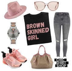 Pink Wardrobe, Devil Wears Prada, Brown Skin Girls, Nike Outfits, Shirt Shop, Casual Chic, Womens Fashion, Cute, How To Wear