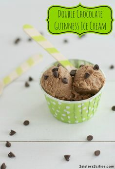 Double Chocolate Guinness Ice Cream for St. Patrick's Day
