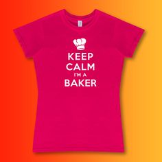 Baker Womens T-Shirt - Female fit t shirt available in an enormous range of colours and sizes - Look Smart in The Kitchen Ladies...