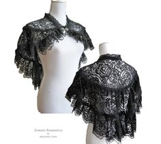 Capelet Vienna black lace victorian shrug IN by SomniaRomantica, $69.00