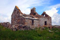 Ruined Farm on Omey Island, Ireland