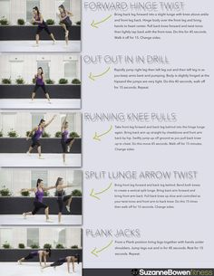 Interval Cardio Fat Burn workout by Suzanne Bowen Fitness! See the full breakdown of this workout | how to make it a tabata style workout | and stretches to finish it with here! http://suzannebowenfitness.com/fitness/interval-cardio-fat-burn-workout-5-moves-to-slim-and-tone/