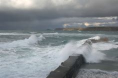 storm over breakers Storm Surge, Crashing Waves, Ocean Waves, Storms, Cool Pictures, Weather, Earth, Nice, Photos