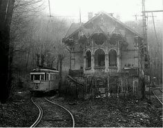 Abandoned train station in Hungary