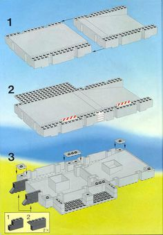 LEGO 6540 Pier Police instructions displayed page by page to help you build this amazing LEGO Town set Lego Police, Floor Layout, Lego Instructions, Lego Building, Lego City, Legos, Planer, Diy, Gaming