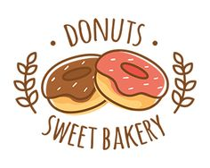 DONUTS LOGO Logo design - a food logo best for many things Price $99.00