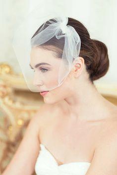 Bridal Blusher Style Illusion tulle Birdcage Veil, Bridal Veil, Blusher Veil, Ready to Ship on Etsy, $35.00