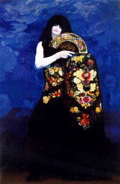 Hermenegildo Anglada Camarasa was a Modernist Spanish painter. His early work had a clear academic imprint. In 1894 he moved to Paris, where he adopted a more personal style. His decorative style draws comparison to Gustav Klimt. Spanish Painters, Spanish Artists, Belle Epoque, Art Espagnole, Matisse, Girl With Green Eyes, Beltane, Realistic Drawings, William Morris