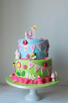 https://flic.kr/p/K7xVnw | Enchanted garden cake for twins