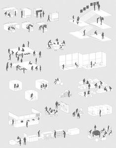 # architektonischepräsentation model architecture concept diagram conceptual model diagrams drawing landscape layout layout presentation portfolio cover page poster presentation presentation house dream homes architecture building Collage Architecture, Architecture Concept Drawings, Architecture People, Architecture Graphics, Landscape Architecture, Museum Architecture, Architecture Diagrams, Conceptual Design Architecture, Architecture Board