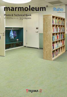 天然の素材から作られるリノリウム床材「マーモリウム」は、人にも地球にもやさしい床材です。 #リノリウム #マーモリウム #linoleum #marmoleum #TAJIMA #田島ルーフィング #forbo #フォルボ Tajima, Divider, Flooring, Books, Libros, Book, Wood Flooring, Book Illustrations, Room Screen