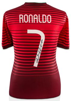 CRISTIANO RONALDO Autographed Portugal Fan Style 2014-15 Home Jersey Shirt  ICONS - Game Day ee97bff69