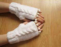 ediforanka snow white saç örgü mini ponponlu eldiven