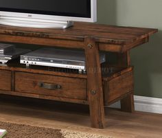702106 TV Stand in Rustic Pecan by Coaster