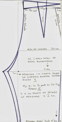 Cómo fabricar patrón de pantalón básico Sewing Pants, Sewing Clothes, Diy Clothes, Doll Patterns, Clothing Patterns, Sewing Patterns, Pattern Cutting, Pattern Making, Aya Couture