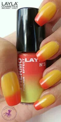 THERMO EFFECT . 03 RED TO YELLOW. www.laylacosmetics.ro
