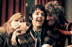 1974, Linda, Paul, Rod Stewart