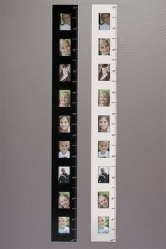 Photo frame height charts in black and white. Small Wood Projects, Diy Projects To Try, Home Projects, Growth Chart Ruler, Growth Charts, Memo Boards, Diy For Kids, Crafts For Kids, Height Ruler