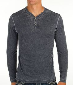 The Buckle Black Paperback Henley isn't something you wear alone. It's an amazingly lightweight burnout basic that can be layered with virtually anything in my closet. I literally need two in every color.