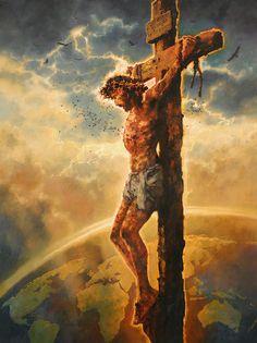 """""""Redeemer of The World"""" Jesus Christ Jesus Artwork, Jesus Christ Painting, Christian Paintings, Christian Artwork, Pictures Of Jesus Christ, Bible Pictures, Jesus Drawings, Jesus Photo, Crucifixion Of Jesus"""