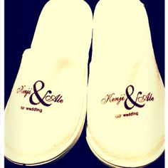 For Our Wedding Reception We Had Custom Made Slippers To Spoil Guest Especially The Ladies