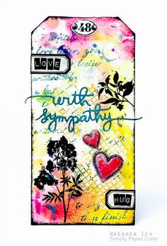 Meihsia Liu Simply Paper Crafts Mixed Media Tag Sympathy Simon Says Stamp Tim Holtz
