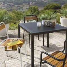 Table de jardin carrée, métal perforé La Redoute Interieurs | La Redoute