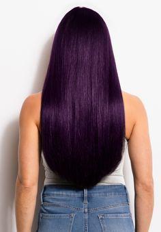 Purple Natural Hair, Dark Purple Hair Color, Burgundy Hair, Cool Hair Color, Dark Violet Hair, Long Purple Hair, Dyed Hair Purple, Medium Hair Styles, Natural Hair Styles