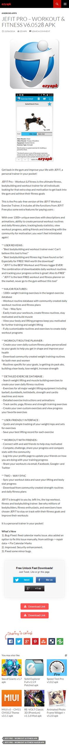 Android Apps JEFIT Pro – Workout  Fitness v6.0528 apk - ezyapk JEFIT Pro – Workout  Fitness is the ultimate fitness, bodybuilding and workout trainer for all individuals looking for that extra step and motivation. http://www.ezyapk.com/android-apps/jefit-pro-workout-fitness-v6-0528-apk/ http://u.ezyapk.com/8WELP #app #apps #androidapp #ezyapk #androidapps #fitness #health #workout #gym