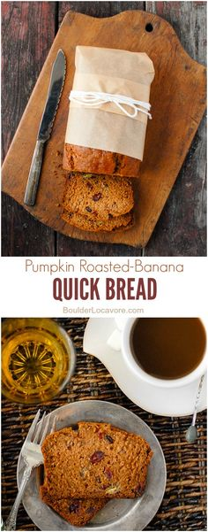 Pumpkin Roasted-Banana Quick Bread. Bursting with fall spices, pumpkin ...