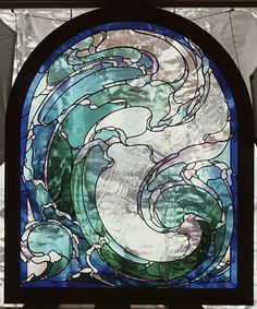stained glass - wave