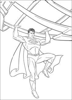 Tegninger til Farvelægning Superman 31