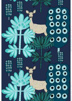 Kaunis kauris fabric | Cotton Fabrics | Marimekko