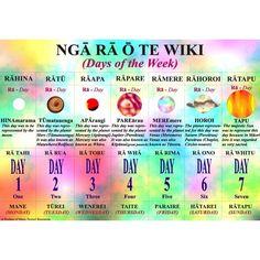 Maori Days Of The Week Nga Ra O Te Wiki Wall Chart A3 | OfficeMax NZ