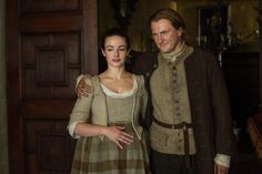 'Outlander' Season 1B, Jenny Fraser Murray (Laura Donnelly) and Ian Murray (Steven Cree) https://www.facebook.com/OutlanderJamieFans