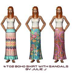 BohoSkirt-SANDALS