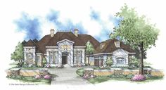 NeoClassical House Plan with 3790 Square Feet and 4 Bedrooms from Dream Home Source | House Plan Code DHSW42399
