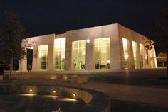 Visitors Center at night - Yad Vashem, world center for Holocaust research, documentation, education and commemoration and dynamic place of intergenerational and international encounter.
