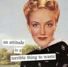 'Attitude' Beverage Napkin - Set of 40