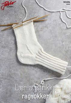 Learn to knit rag socks Learn to knit rag socksFrom Norwegian Dorthe Skappel's new knit book 'Easy knit on big sticks' we bring here the recipe for 'Dorthetrö. Bobble Stitch, Purl Stitch, Chain Stitch, Slip Stitch, Double Crochet, Knit Crochet, Crochet Pouch, Tapestry Crochet, Ravelry