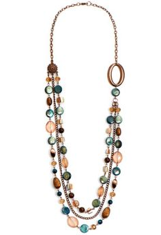 Blue Bronze Long Necklace - CJ Banks