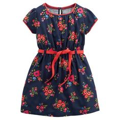 Just One You™Made by Carter's® Girls' Short-sleeve Floral Dress - Navy 18M…