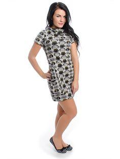 Purplish Little Owl Dress (Grey)
