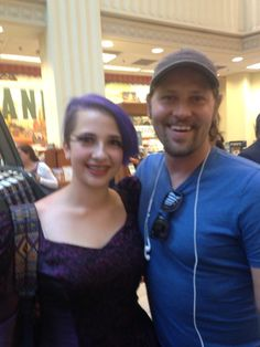 A fan and Zach Woodlee at the Grove for Chris's book signing 7/18/15